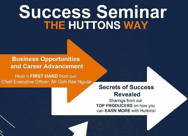 Huttons Success Seminar